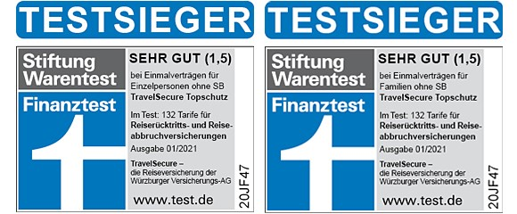 Travel Secure 4-facher Testsieger